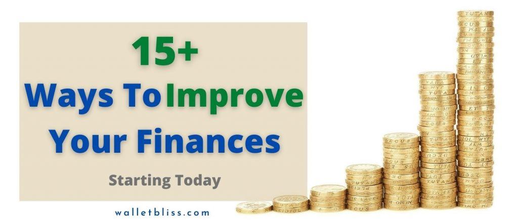 18 ways to improve your finances starting today