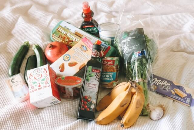 save money on purchases and groceries by using a list, shop with coupons and deals, buy in bulk and plan meals and so on