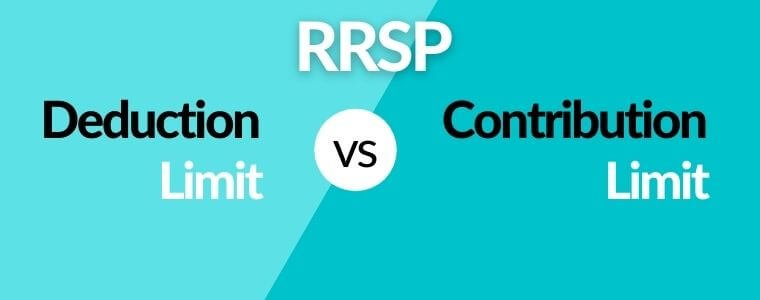RRSP deduction vs contribution limit with examples