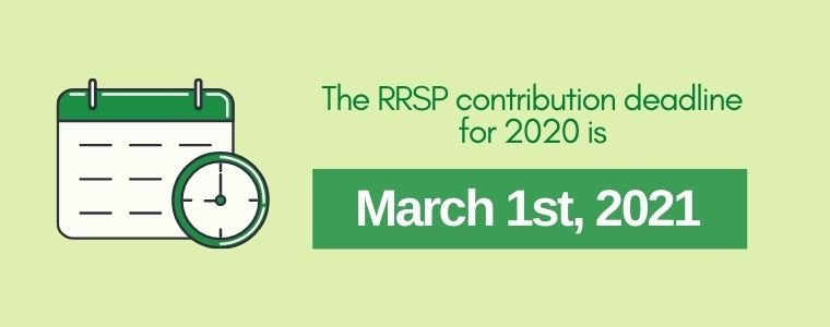 The RRSP contribution deadline for 2020
