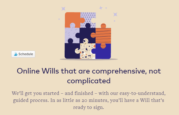 Online wills that are not completed from Epilogue Wills