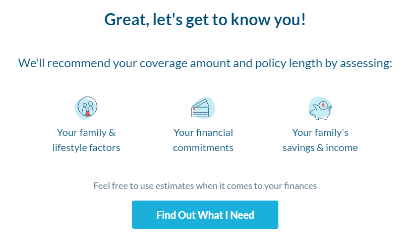 Use Policyme calculator to calculate how much life insurance you need.